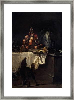 The Buffet 1728 Framed Print