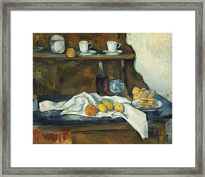 The Buffet 1877 Framed Print by Paul Cezanne