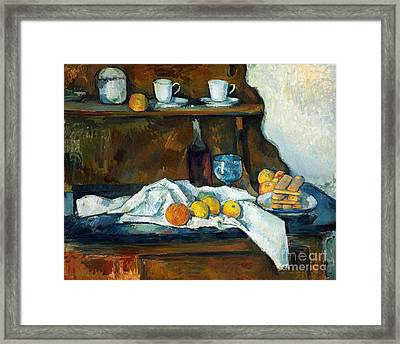 The Buffet Framed Print by Cezanne