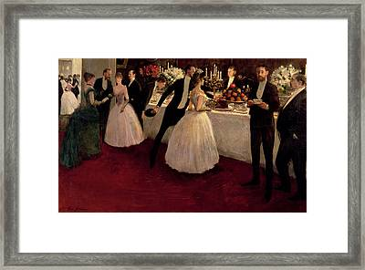 The Buffet Framed Print by Jean Louis Forain