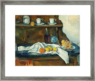 The Buffet Framed Print by Paul Cezanne