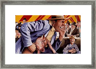 The Buffoon And The Countryman Framed Print by Denny Bond