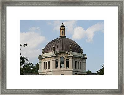 Framed Print featuring the photograph The Building  by Paul SEQUENCE Ferguson             sequence dot net