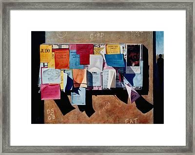The Bulletin Board Framed Print by Doug Strickland