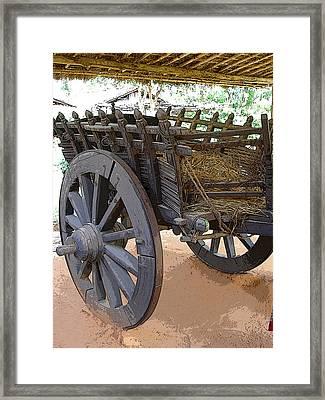 The Bullock Cart Framed Print by Padamvir Singh