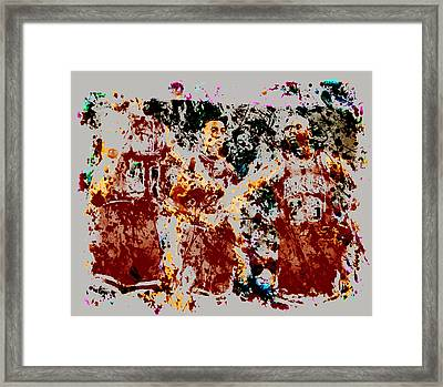 The Bulls Throwback Framed Print