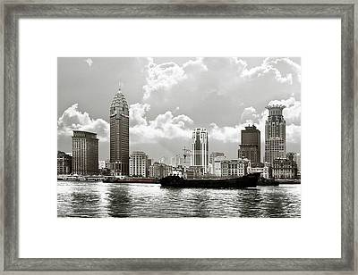 The Bund - Old Shanghai China - A Museum Of International Architecture Framed Print