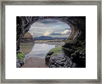 The Bundoran Cave And Donegal Hills Framed Print