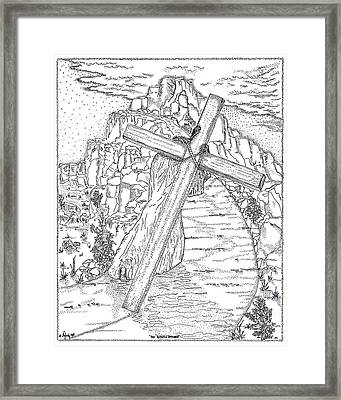 The Burden Endured Framed Print