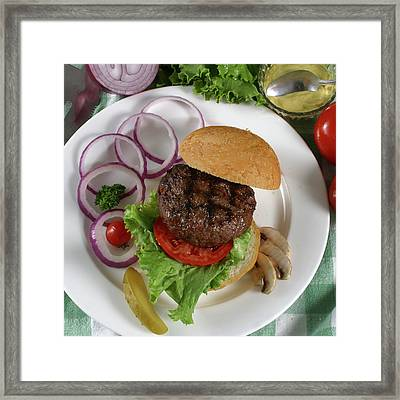 The Burger 2 Framed Print by Jack Dagley