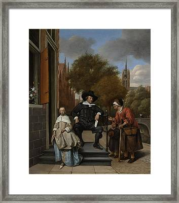 The Burgomaster Of Delft And His Daughter Framed Print by Celestial Images