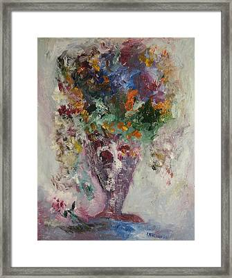 The Burgundy Vase Framed Print by Edward Wolverton