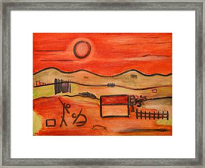 the Burial of the dog Framed Print by Michael Keogh