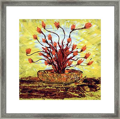The Burning Bush Framed Print by J R Seymour
