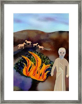 The Burning Bush Framed Print by Sher Magins