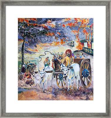 The Burning Punjab-1947 Framed Print