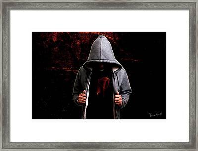The Burning Framed Print by Venura Herath