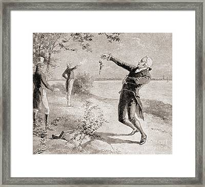 The Burr Hamilton Duel Framed Print by Henry Alexander Ogden