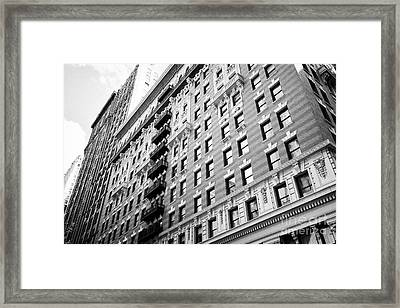 the burton building with mixed design architecture architectural details New York City USA Framed Print