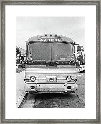 The Bus To Laredo Framed Print