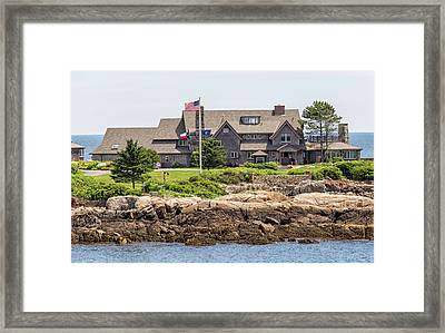 The Bush Compound Kennebunkport Maine Framed Print by Brian MacLean