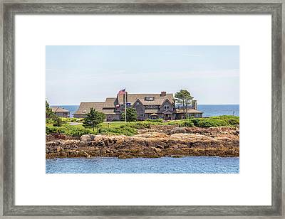 The Bush Family Compound On Walkers Point Framed Print by Brian MacLean