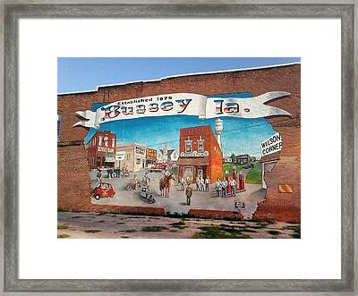 The Bussy Mural Framed Print by Todd Spaur