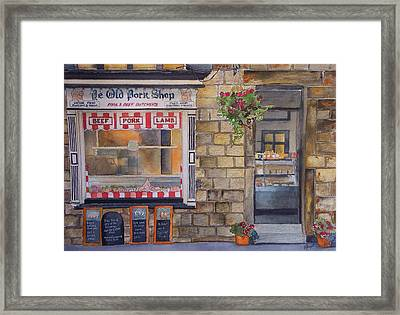 The Butcher Shop Framed Print by Victoria Heryet