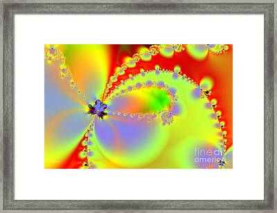 The Butterfly Effect . Summer Framed Print by Wingsdomain Art and Photography
