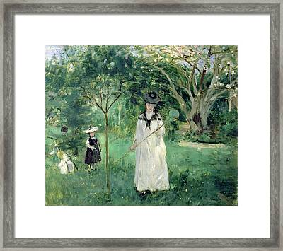 The Butterfly Hunt Framed Print