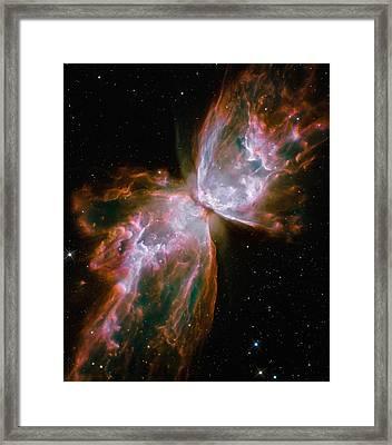 The Butterfly Nebula Framed Print by Stocktrek Images