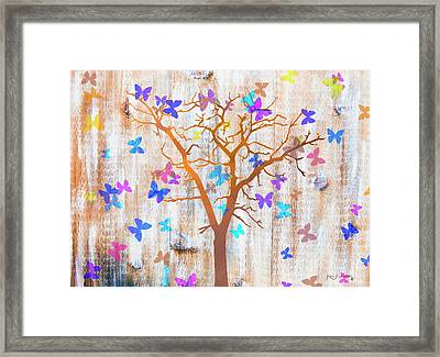 The Butterfly Tree Framed Print