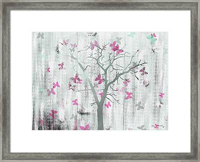 The Butterfly Tree Pink Framed Print