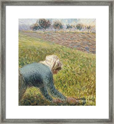 The Cabbage Gatherers  Detail Framed Print