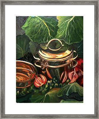 The Cabbage Pot Framed Print by Patricia Reed