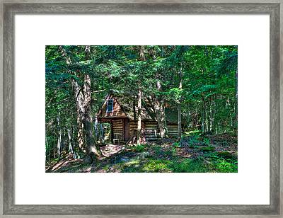 The Cabin At Ledgedale Framed Print by David Patterson