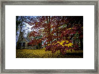 The Cabin In Autumn Framed Print
