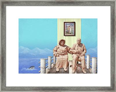 The Cadburys On Vacation Framed Print by Marty Garland