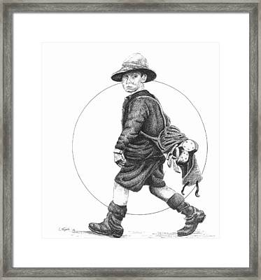 The Caddy Framed Print