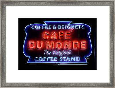 The Cafe Du Monde Framed Print by JC Findley