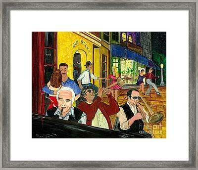 The Cafe Framed Print