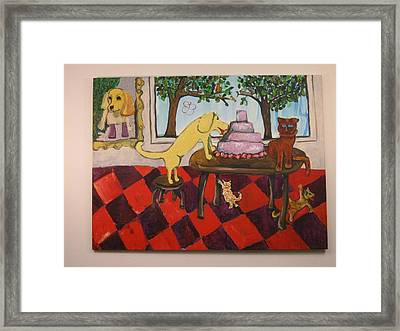Framed Print featuring the painting The Cake by AJ Brown