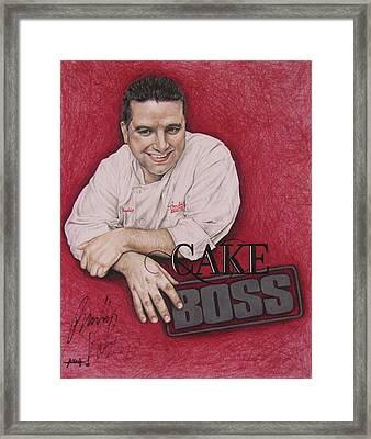 The Cake Boss Framed Print by Angela Hannah