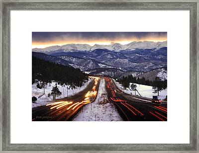 The Call Of The Mountains Framed Print by Brian Gustafson