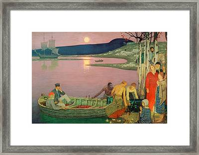 The Call Of The Sea Framed Print by Frederick Cayley Robinson
