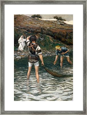 The Calling Of Saint Peter And Saint Andrew Framed Print by Tissot