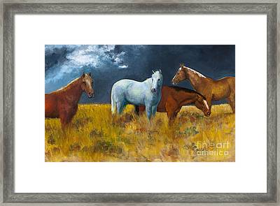 The Calm After The Storm Framed Print by Frances Marino