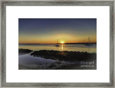 The Calm At Sunrise Framed Print