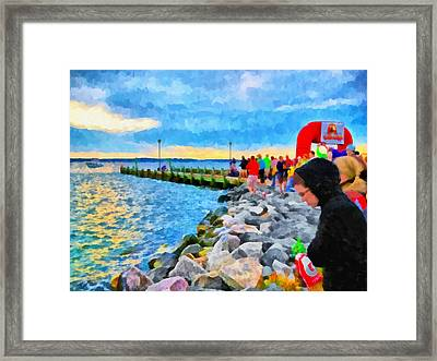 Framed Print featuring the digital art The Calm Before The Race by Digital Photographic Arts