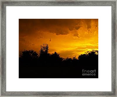 The Calm Before The Storm Framed Print by Gail Finger